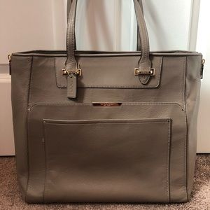 Coach Taupe Leather Shoulder Bag